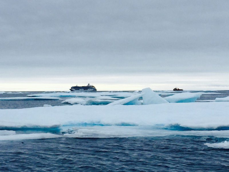Crystal Serenity at sea in the Northwest Passage in late August. Photo: Crystal Cruises