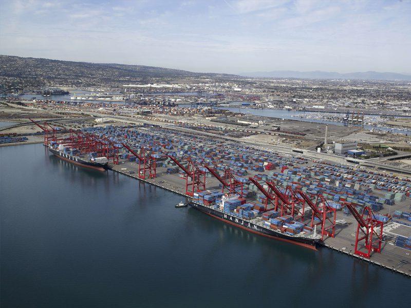 Hanjin Shipping Long Beach Terminal. File Photo: Hanjin