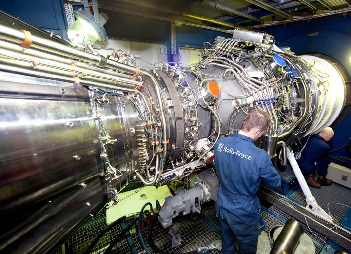 36MW Rolls-Royce MT30 gas turbine engine