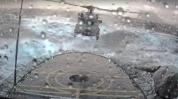 WATCH: Insane Helicopter Landing on Ship in North Atlantic Storm