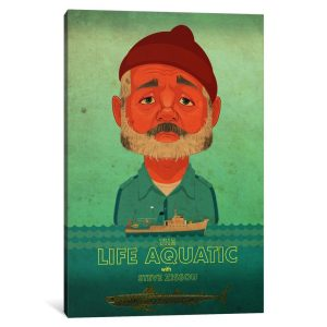 steve zissou canvas wall poster
