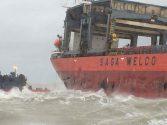 Damaged 'Saga Sky' Moved to Port in Dunkirk, France
