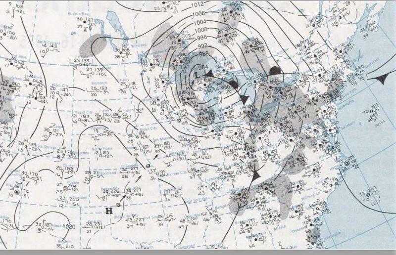 November 10, 1975 NOAA Surface Analysis