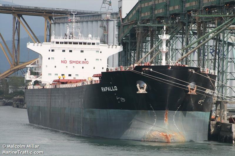 The DryShips-owned MV Rapallo.
