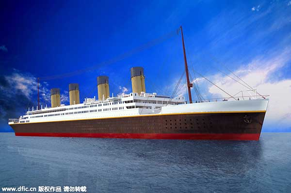 Size replica 'Titanic' being built in China
