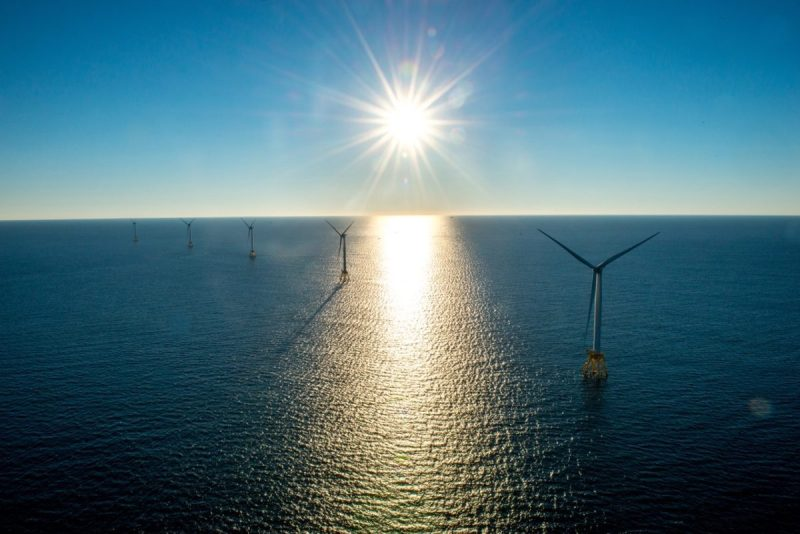 Deepwater Wind LLC project off the coast of Rhode Island, the first offshore wind farm in the U.S.. Credit: Deepwater Wind