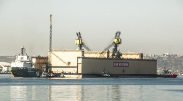 Largest Dry Dock in California Arrives at BAE in San Diego