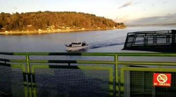 Caught On Camera: Boater and Washington State Ferry Collide