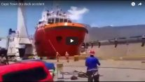 WATCH: Cape Town Dry Dock Accident… Caught on Tape
