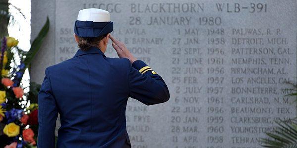 U.S. Coast Guard file photo of the Cutter Blackthorn Memorial.