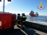 Cargo Ship Drags Anchor and Runs Aground in Italy