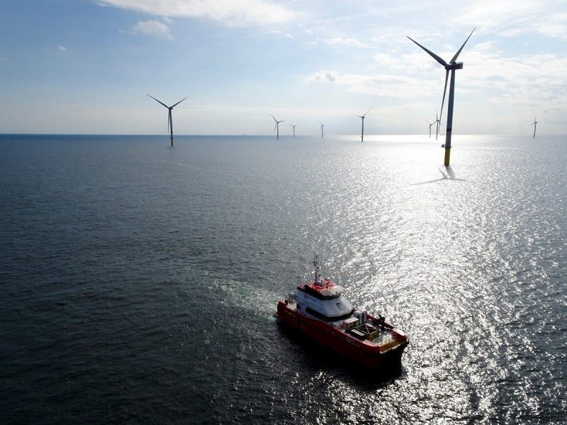 File photo shows the Gode Wind 2 offshore wind farm. Photo credit: Dong Energy