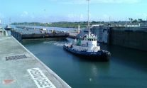 Ship Photos of the Day – First Tug and Barge Through Panama Canal's Larger Locks
