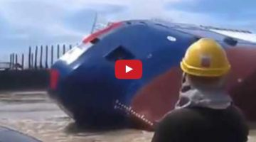 Shocking Video Shows Vessel Capsize at Launch; Several People Seen on Deck