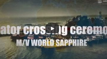 Watch: Line-Crossing Ceremony on MV World Sapphire