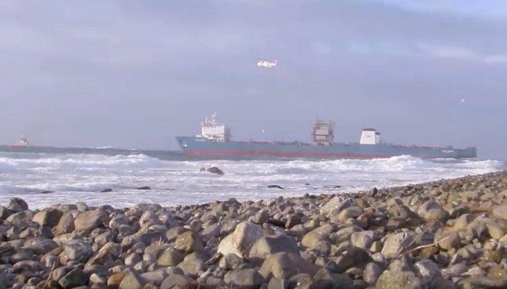 Stricken Barge Carrier in Danger of Grounding Off Norway