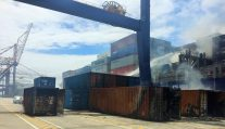 Photos Reveal Fire Damage Aboard APL Austria in South Africa