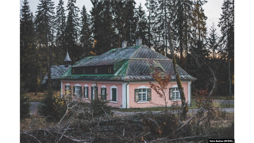 The hunting lodge where Karmal and his family lived in secret for several months in 1978-79.