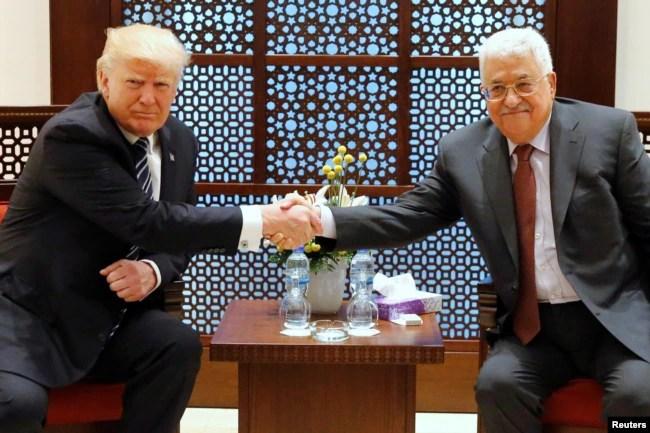 Donald Tramp və Mahmud Abbas