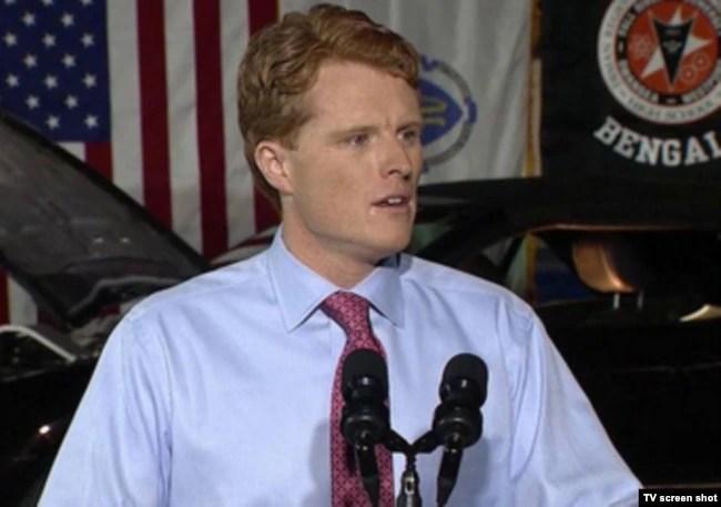 El legislador por Massachusett, Joe Kennedy III, pronunció la respuesta demócrata al primer discurso del presidente Donald Trump sobre el Estado de la Unión. Enero 30 de 2018.