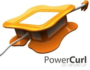 Quirky PowerCurl Keeps Mac Laptop Power Cables Organized