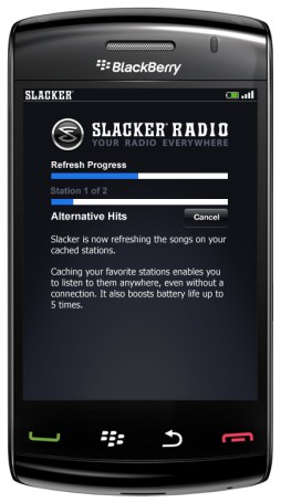 Gear Diary Slacker Radio 3.0 for BlackBerry & Android Brings Faster App and Improved Wireless Station Caching photo