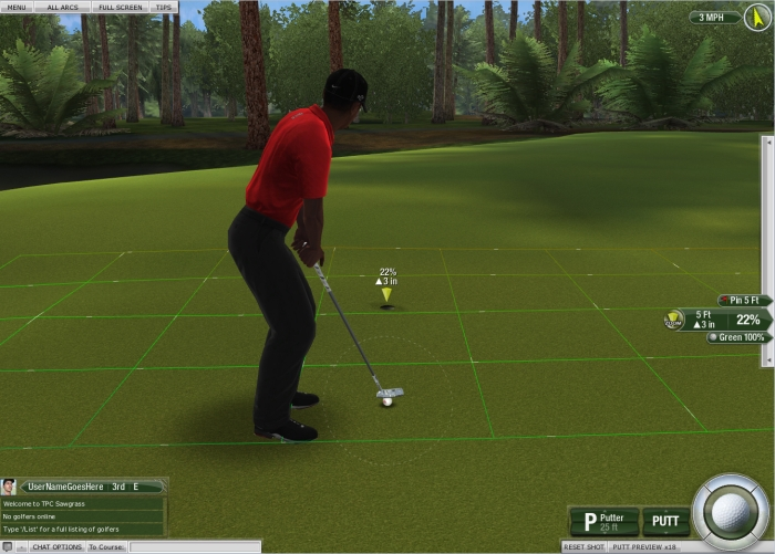 Tiger Woods PGA Tour Putting