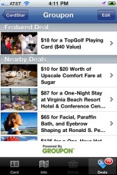 Gear Diary Cardstar Now Gives You Location Based Deals with Groupon Integration photo