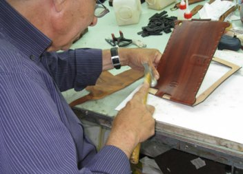 Gear Diary Production on Judie's One of a Kind Orbino Padova Case for the iPad 2 Finishing Up photo