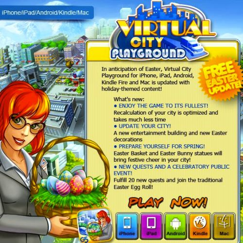 Virtual City Playground Easter