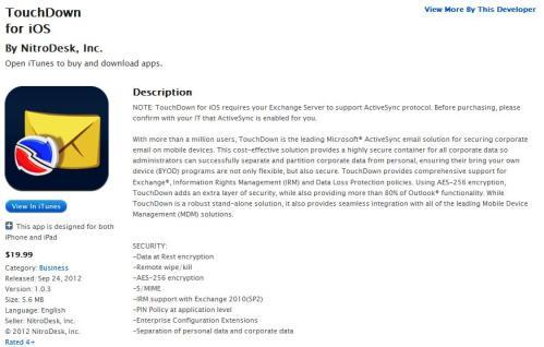 TouchDown iOS