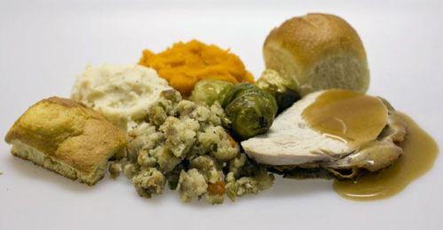 Thanksgiving Dinner Serving