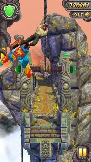 Temple Run 2 zipline 2
