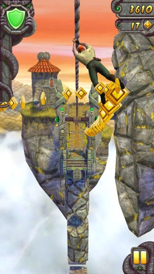 Temple Run 2 zipline