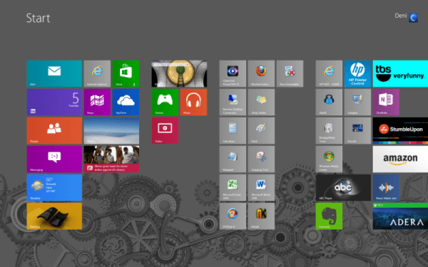 Win8 Metro Start Screen