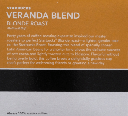 Starbucks Blond Roast Veranda Blend