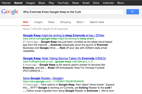 Google Reader and Google Keep, You Get What You Pay For