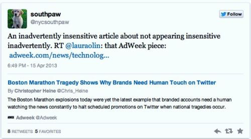 Twitter Showed the Best and Worst of Brands During Boston Attacks
