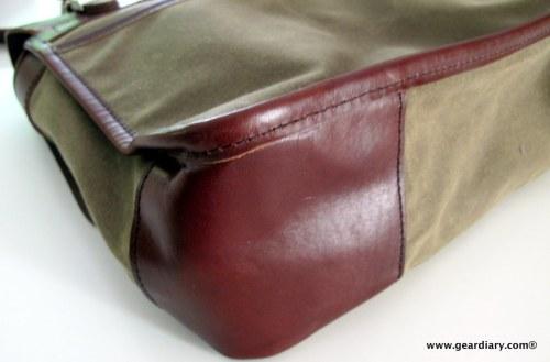 Oberon Design Laptop Messenger Bag
