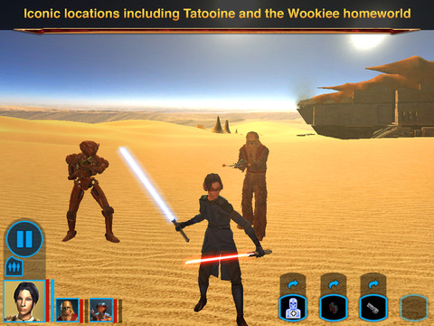 Stars Wars Knights of Old Republic iPad 04