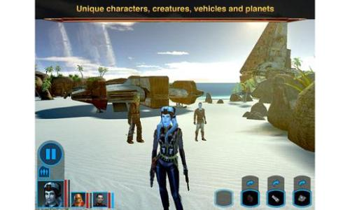 Stars Wars Knights of Old Republic iPad 05