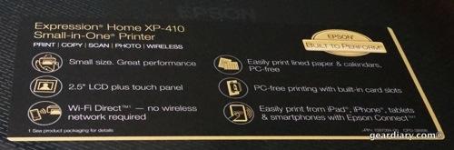 Epson XP-410 Multi-Function Printer
