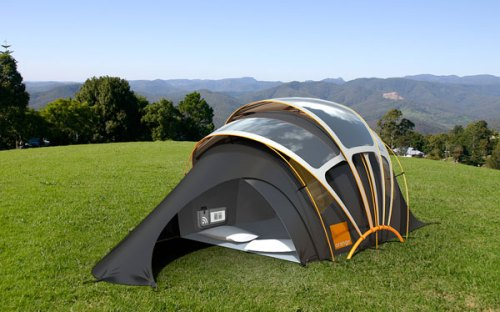 Orange Prototype Solar Tent