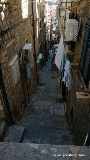 A typical side street inside the walled city of Old Town Dubrovnic