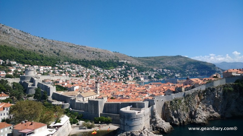 The walls of Old Town Dubrovnik; that's Fort Bokar in the front.