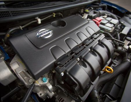 130hp 1.8-liter inline four-cylinder engine powers the 2013 Nissan Sentra
