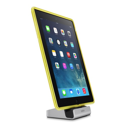 Belkin Express Dock iPad iPhone Yellow Side
