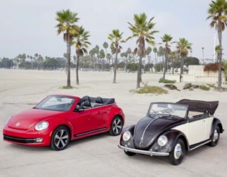 VW Beetle Convertibles Then and Now