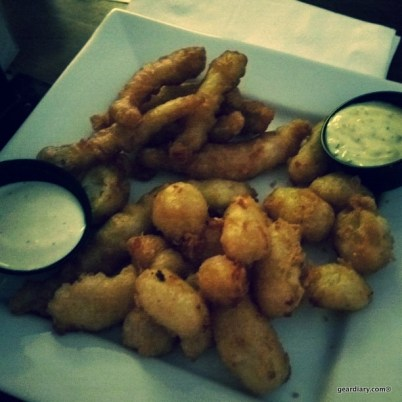 My first time to try fried cheese curds and fried wall-eye fish at T-Bones Grill & Bar in Wabasha, Minnesota