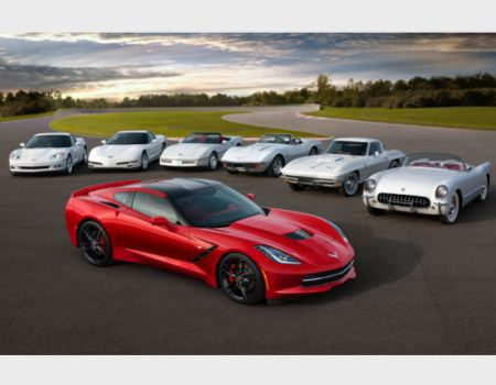 Seven generations of Corvette/Image courtesy Chevrolet